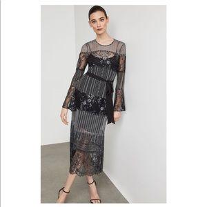 Metallic Lace BCBG Dress